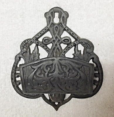 Antique Cast Iron Wilton Products  Match Holder / Fireplace Tools