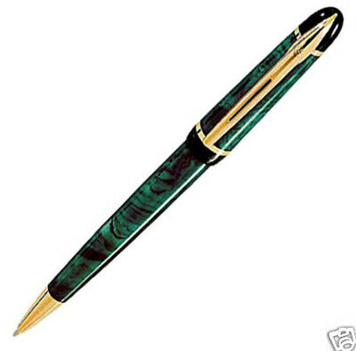 Waterman Phileas Marble  Green & Gold  Ballpoint Pen New  In Box