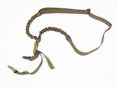 Coyote brown tactical universal single point adjustable bungee 4068 rifle sling