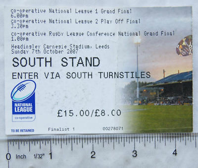 2007 ticket Co-operative National League Grand Final, Headingley