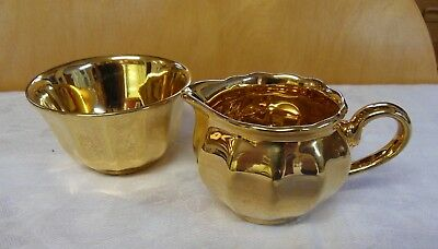 Wade Gold Lustre Creamer / Small Milk Jug And Sugar Bowl
