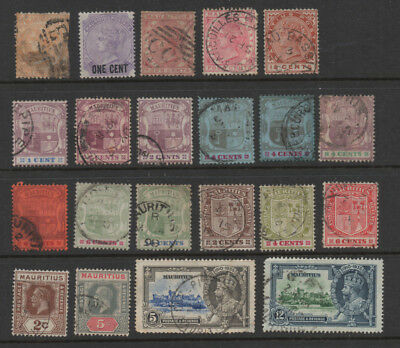 Mauritius, selection of 21 pre-war stamps.