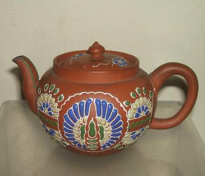 A Fine Chinese Yixing Enamelled Teapot - Dated 1917 And Signed
