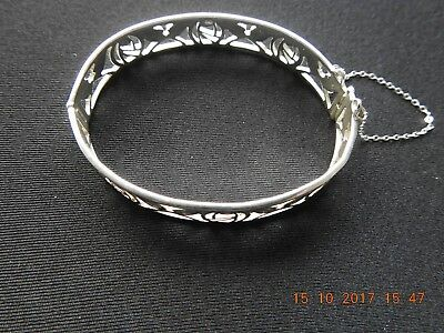 Another Rennie Mackintosh Style 925 Silver Bangle In Very Good Used Condition