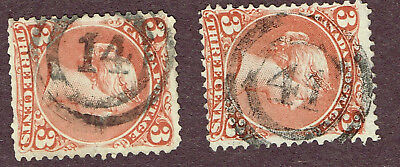 """Canada Large Queens 25 Fine   """"14, 41"""" 2-Ring Cancel  (Ocr15"""