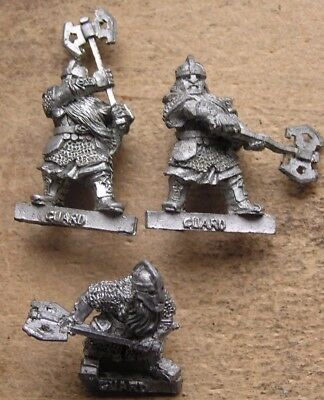"Citadel GW 00's Lord of the Rings metal "" Dwarf Khazad Guard x 3 "" !"