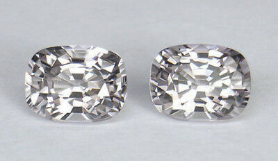 2.48Ct If/vvs1 Dazzling Silver Color Cushion Cut Matched Pair Of Nam Ya Spinels