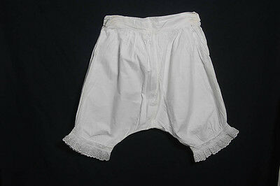 Antique White Cotton Bloomers Pantaloons Knickers (953)