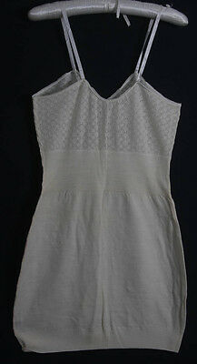 Vintage Ladies Cream 100% Wool Smedley Jay Vest  New Old Stock Wx (875)
