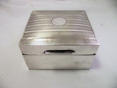 Solid Silver Cigarette / Trinket Box London 1923