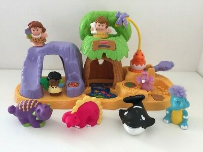 Fisher Price Little People Dinoland Playset Figures Dinosaurs Toys Bundle Sounds