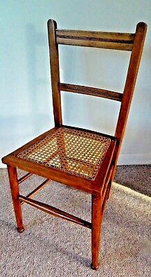 Edwardian Bedroom,Occasional, Hall,Wooden Chair With Caned Seat, Nice Item!