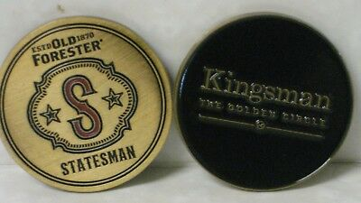 Kingsman The Golden Circle 2 Promo Old Forester Statesman Coins Medallions Sdcc