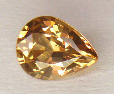 Limited Edition Gold To Orangey Red Pear Shape Color Change Malaya Garnet