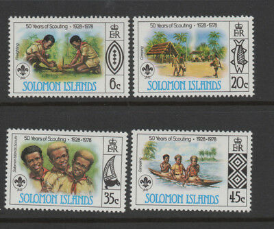 "1978, Solomon Islands ""50 years of Scouting"" set of 4 unmounted mint."