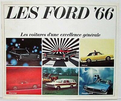 1966 Les Ford Sales Brochure Falcon Mustang Thunderbird - Canadian - French Text