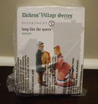 Dickens Village Series Long Live The Queen Porcelain Accessory New