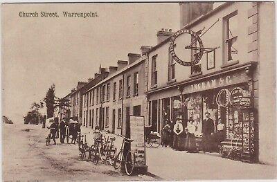 Warrenpoint Co Down. Ireland Irish. Church Street. Real Photo. Ingram Shop.