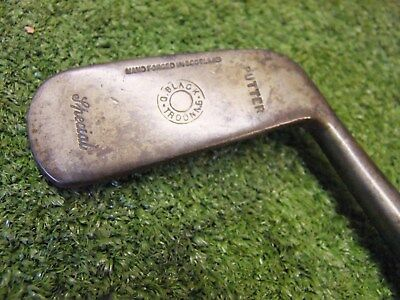 Rare Vintage Hickory putter  G Black Troon old golf memorabilia