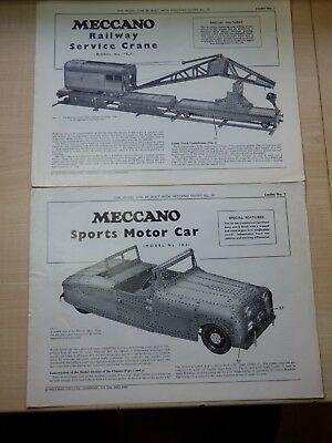 Meccano Special model leaflets No's 1 to 20