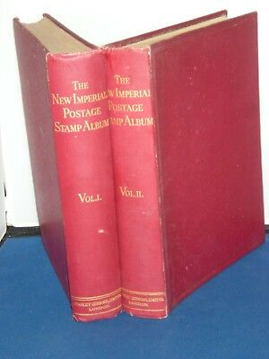 Stanley Gibbons The New Imperial Postage Stamp Album Vol 1 & 2  1840 to mid 1936