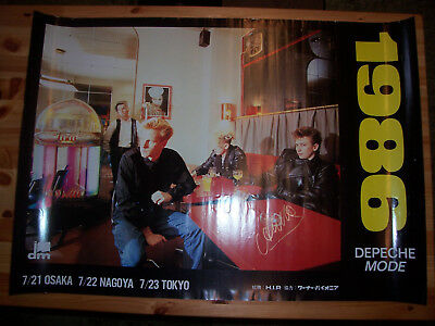 Depeche Mode THE ALAN WILDER OMEGA AUCTIONS JAPAN TOUR 1986 POSTER!!!!!!!!!!!!!!