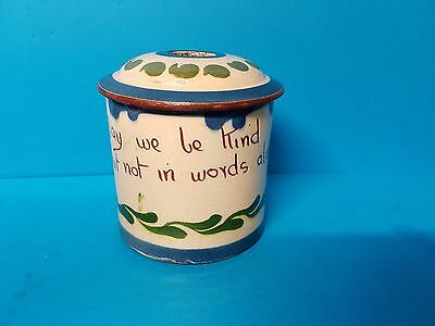 Toilet Tidy, May we be kind but not in words alone. Torquay Devon Motto