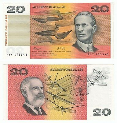 MA.001) AUSTRALIA 20 dollars ND(1974-1994) / Fraser & Cole signatures / VF+