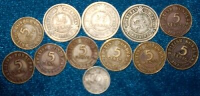 BRITISH HONDURAS - 12 x Coin Mix Some Low issues