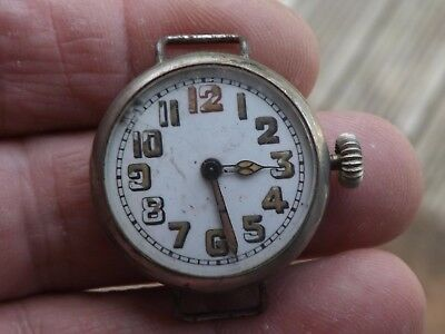 Good  Officers Nickel Cased Trench  Wristwatch