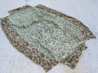 ORIG WWII ERA USMC MOSQUITO BAR COT NET CAMOUFLAGE ID'd MG C 1 ET 87 BUG INSECT