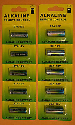 10 pcs 23A 27A 12V Alkaline Batteries -Your Choice