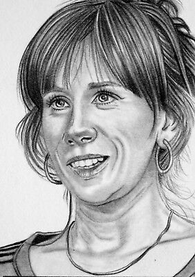 ORIGINAL ACEO sketch card DOCTOR WHO Catherine Tate DONNA NOBLE