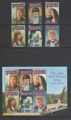 Alderney 2006 Once and Future King Mint MH Set and Mini Sheet