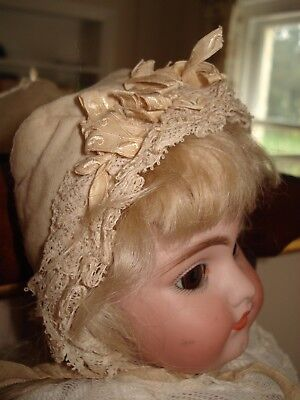 Small Antique Bonnet Doll Accessory Clothing