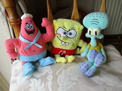 Ty SpongeBob SqaurePants, Patrick and Squidward Soft Toy Bundle