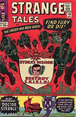 Strange Tales # 136 - 2Nd Nick Fury Agent Of Shield - Dr Strange - Ditko - Kirby