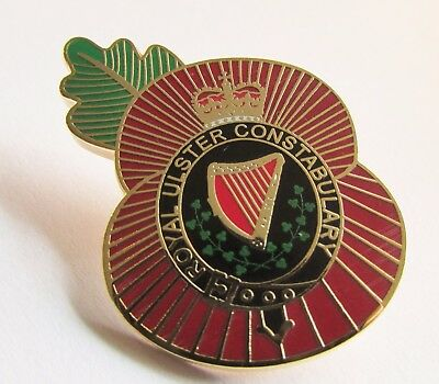 High Quality Remembrance Day Poppy Badge Ruc Royal Ulster Constabulary Police