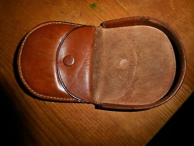 Vintage leather men's/ladies  coin purse pocket/car/travel? lovely leather