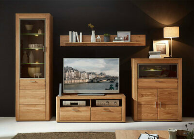 anbauwand wohnwand massiv kirschbaum teilbar m bel vitrinenschrank eur 1 00 picclick de. Black Bedroom Furniture Sets. Home Design Ideas