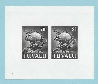 Tuvalu Upu Black Print Souvenir Sheet Mint And Unmounted