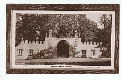 Glamis Castle Gateway Angus 1892 Real Photograph Valentines 17527 Old Postcard