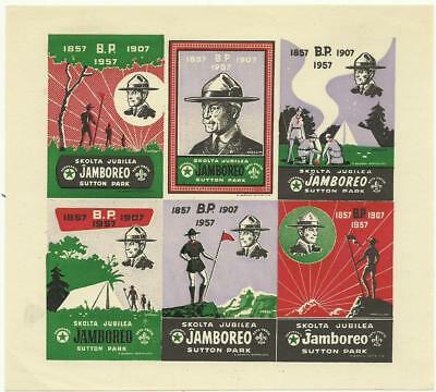 1957 Boy Scout World Jamboree Esperanto Sheet Imperf Lady Baden Powell Visited