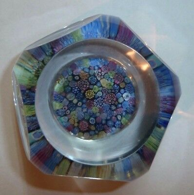 Whitefriars Millefiori Glass Paperweight 1974