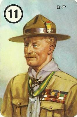 Baden Powell Playing Card Showing B-P In Boy Scout Uniform