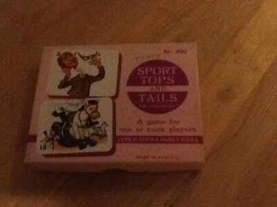 Vintage Tops & Tails Card Game Ferd Piatnik & Sons Vienna