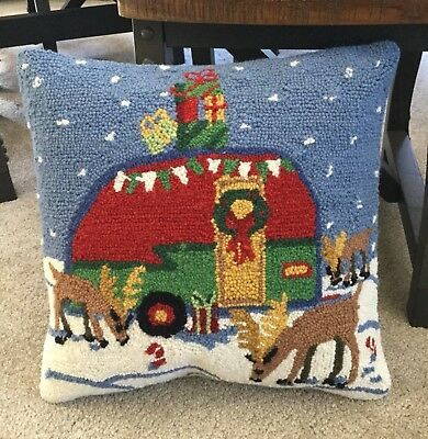"""18"""" Hooked Camper Pillow"""