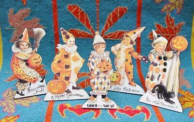 Bethany Lowe Halloween Vintage Style Children in Costume Dummy Boards Set of 5