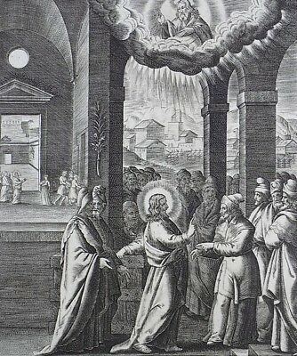 1593 NATAL Wierix Collaert Vos Galle PASSION TABLEAU Jesus - Light of the World
