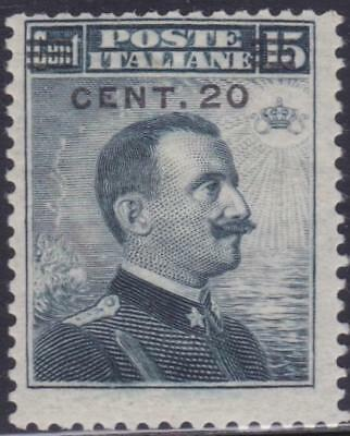 ITALY 1916 VEIII 20c on 15c MNH Fresh B14350
